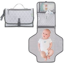 Baby Changing Pad, Portable Diaper Changing Pad, Diaper Bag Mat, Foldable Travel Changing Statio ...