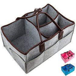 Large Baby Diaper Caddy – Premium Diaper Caddy Organizer – Nursery Organizer Tote Ba ...