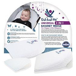 3-in-1 Universal Bassinet Wedge – Elevated Sleeping Pillow Helps Newborn Babies with Acid Reflux ...
