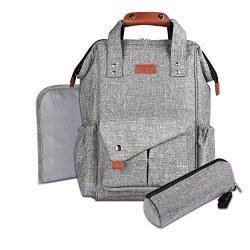 Canbeisi Baby Diaper Bag Backpack Large Capacity Waterproof Travel Diaper Bags Designer Multi-fu ...