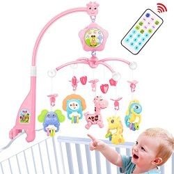 Baby mobile for crib, Baby mobile for crib with lights and music with toy, arm, projector for pa ...