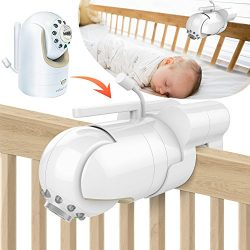 Baby Monitor Mount Bracket for Infant Optics DXR-8 Baby Monitor, Featch Universal Baby Cradle Mo ...