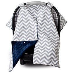2 in 1 Carseat Canopy and Nursing Cover Up with Peekaboo Opening | Large Infant Car Seat Canopy  ...
