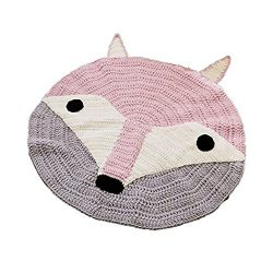 Kids Nursery Play Mat Round Baby Floor Rugs Home Decor Carpet Toy Organizer Storage 32×32 i ...