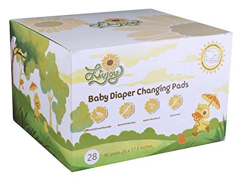 LivJoy Baby Diaper Disposable Changing Pads – Portable Infant Toddler 100% Waterproof Mats ...