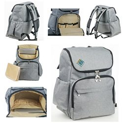 Laptop Backpack Diaper Bag large stylish cloth with insulated pockets-Backpack Equip