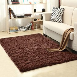 Supmaker Soft Indoor Modern Area Rugs Fluffy Living Room Carpets Suitable for Children Bedroom D ...