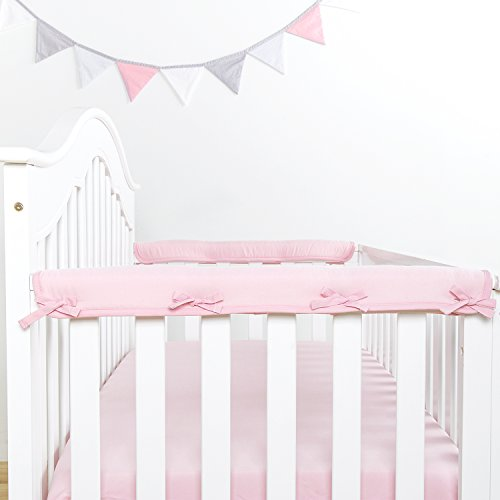 TILLYOU Padded Baby Crib Rail Cover Protector Safe