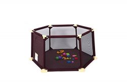 Safety Fence Baby/pet Play pen Portable Playard Indoor and Outdoor 6 Panel 142 inch W
