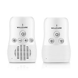 Willcare Upgraded Baby Monitor with Two-Way Audio, Smooth Night Light, Rechargeable Battery Oper ...