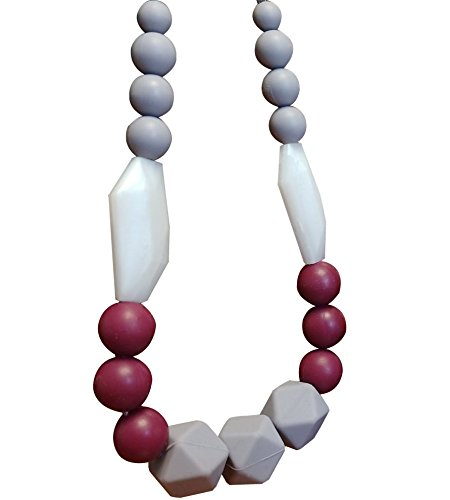 Baby Teething Necklace For Mom To Wear | Great New Mom Present | Nursing Necklace Silicone Teeth ...
