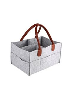 Diaper Bag   Baby Diaper Caddy   Nursery Diaper Tote Bag   Large Portable Car Travel Organizer   ...