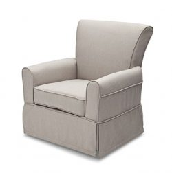 Delta Children Upholstered Glider Swivel Rocker Chair, Taupe