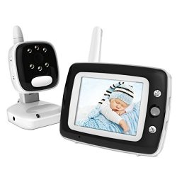 Digital Video Baby Monitor with 3.5 Inch Color Screen, Infrared Night Vision, Soothing Lullabies ...