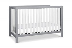 Carter's by Davinci Colby 4-in-1 Low-Profile Convertible Crib, Grey and White