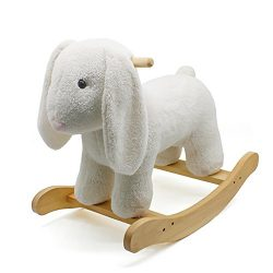 london-kate Deluxe Rocking Horse PLUSH ANIMAL BUNNY ROCKER Toy, Rocking Chair Toy/Wooden and Plu ...