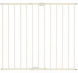 North States Supergate Easy Swing & Lock Gate, Linen, Fits Spaces 28.68″ to 47.85̸ ...