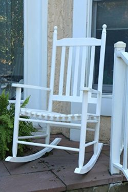 Oliver and Smith – Nashville Collection – Wooden White Patio Porch Rocker- Rocking C ...