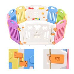 Baby Playpen, Baby Toddler Non-Toxic 10 Panel Kids Play Pen- Kids Activity Center Safety Play Ya ...