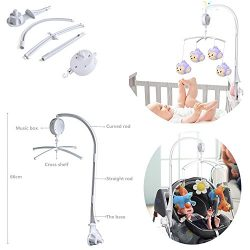 Baby Crib Mobile Bed Bell Holder Music Box Holder Arm Bracket Baby Bed Stent Set for Baby Bed Mo ...