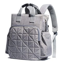 SoHo Diaper Bag Backpack Kenneth 6 pcs Nappy Tote Stylish Bag for Baby mom dad Insulated Unisex  ...