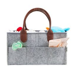 Diaper Caddy Organizer – WoNiu Diaper Caddy Mom Nursery Wipes Storage Tote Bag Organizer B ...