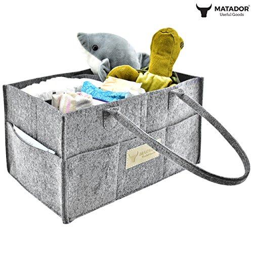 Matador Useful Goods Baby Diaper Organizer Caddy Felt Storage
