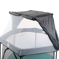 BabySeater Full Coverage Canopy for Playard, Playpens and Pack n' Play. Multipurpose mesh  ...