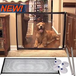 Magic Gate Portable Folding Safe Guard Install Anywhere Pet Safety Enclosure Commercial Magic Ga ...
