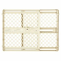 Supergate Ergo Pressure or Hardware Mount Plastic Gate, Ivory, Fits Spaces between 26″ to  ...