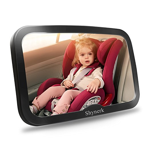 Shynerk Baby Car Mirror Safety Seat For Rear Facing Infant With Wide Crystal