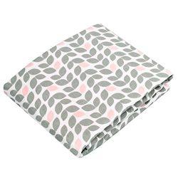 Kushies Baby Fitted Bassinet Sheet, Grey Petal