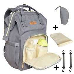 Diaper Bag Backpack,Muykid Multi-Function Waterproof Travel Backpack Changing Pad Nappy Baby Car ...