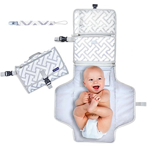 Portable Diaper Changing Pad –- Ideal Travel Changing Station – Large Changing Mat – Washa ...