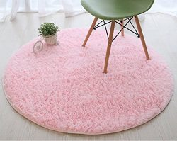 Super Soft Thick Fluffy Kids Rug Nursery Decor Luxury Round Children Area Rug for Living Room Be ...