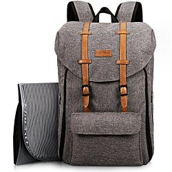 HapTim Travel Baby Diaper Bag Backpack, Large Capacity/Easy Organize/Comfortable/Fashion Cool Gi ...