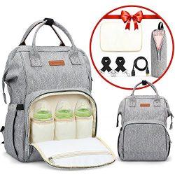 Diaper Bag Backpack Large Capacity Multifunction Waterproof Unisex Travel Backpack Nappy Bags wi ...