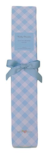 Applesauce Scented Drawer Liner with Baby Powder Scent, Blue Gigham