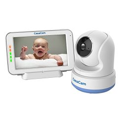 CasaCam BM200 Video Baby Monitor with 5″ Touchscreen and HD Pan & Tilt Camera, Two Way ...