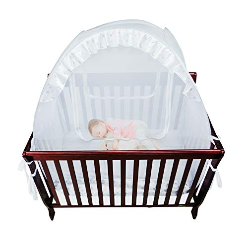 Houseables Baby Crib Safety Net, Mosquito Bed Netting Tent