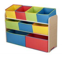 Delta Children Multi-Color Deluxe Toy Organizer with Storage Bins