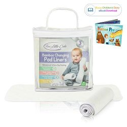 Changing Pad Liners – Waterproof Washable Large Diaper Changing Table Pad Cover [3 Pack] P ...
