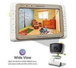 MoonyBaby Wide Angle 5″ LCD Video Baby Monitor with Split Screen, Clear Night Vision,&#822 ...