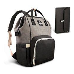 PIPI Bear Diaper Bag Travel Backpack Large Capacity Tote Shoulder Nappy Bag Organizer for Baby C ...