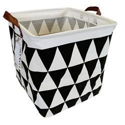 FANKANG Square Storage Bins 13 inch Well Standing Toy Chest Baskets Waterproof Coating, Laundry  ...