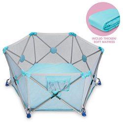 D.LIN Playpen Pop N' Portable Playard for Babies/Toddler/Newborn/Infant with Travel Bag,6- ...