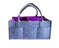 ComboCube Baby Diaper Caddy   Nursery Diaper Tote Bag   Large Portable Car Travel Organizer   Bo ...