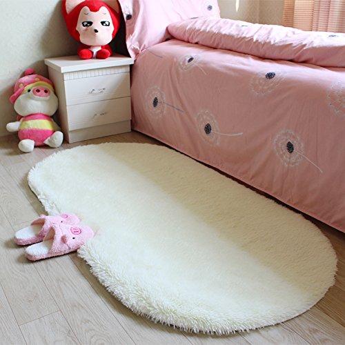 Moonrug Ultra Soft Fluffy Oval Area Rugs Shaggy Living