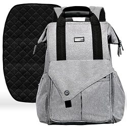 Diaper Bag Backpack with Stroller Straps, Baby Changing Mat & 13 Pockets – Insulated M ...