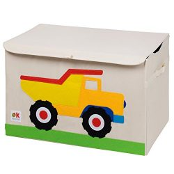 Wildkin Olive Kids Toy Chest, Perfect for Playroom Organization, Measures 24 x 15 x 14 Inches, C ...